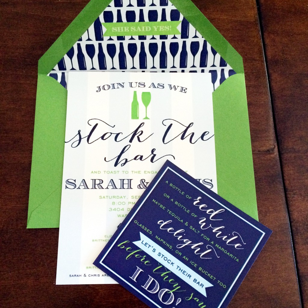 Recap: Stock the Bar Engagement Party! - Hosting & ToastingHosting ...